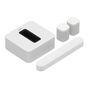 Комплект акустики 5.1 Sonos Sub, Beam, 2 One SL White
